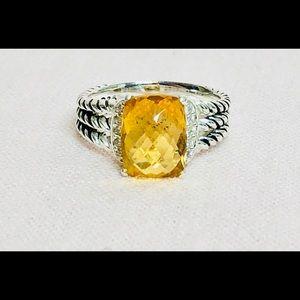 David Yurman • Citrine Petite Wheaton Ring 6.5